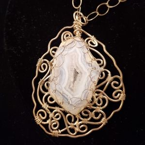 Jewelry - Sterling Geode Necklace